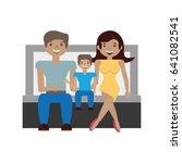 couples family son | Shutterstock .eps vector #641082541
