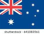 vector australia flag ... | Shutterstock .eps vector #641083561