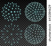 set of vector fireworks on... | Shutterstock .eps vector #641084629