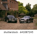 Small photo of BENTLEY TURBO AND ASTON MARTIN V8 VANTAGE, GERBEROY, PICARDIE FRANCE, 25TH JULY 2003