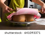 close up of woman in bakery... | Shutterstock . vector #641093371