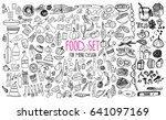 hand drawn food elements. set... | Shutterstock .eps vector #641097169