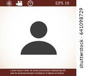 user icon | Shutterstock .eps vector #641098729