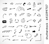 hand drawn arrows  vector set   Shutterstock .eps vector #641099707