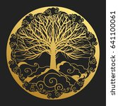 logo design in oriental style.... | Shutterstock .eps vector #641100061