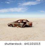 Abandoned Vintage Car Wreck On...