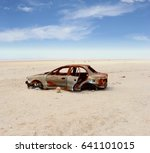 Abandoned Vintage Car Wreck In...