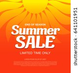 summer sale template banner in... | Shutterstock .eps vector #641101951