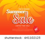 summer sale template banner in... | Shutterstock .eps vector #641102125