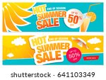 set of two summer sale banners | Shutterstock .eps vector #641103349