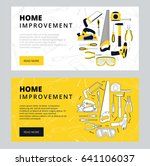 home improvement corporate web... | Shutterstock .eps vector #641106037