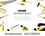 home improvement background... | Shutterstock .eps vector #641106061