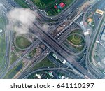 road beautiful aerial view of... | Shutterstock . vector #641110297