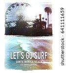 photo print california beach... | Shutterstock . vector #641111659