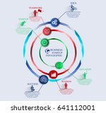 infographics in the form of... | Shutterstock .eps vector #641112001