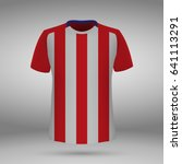 football kit of atletico madrid ... | Shutterstock .eps vector #641113291
