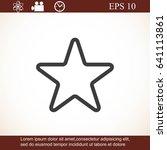 star icon | Shutterstock .eps vector #641113861