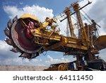 huge coal mining coal machine... | Shutterstock . vector #64111450