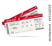 airline ticket or boarding pass ... | Shutterstock .eps vector #641116519