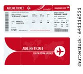 airline ticket or boarding pass ... | Shutterstock .eps vector #641116531