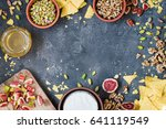 ingredients layout for baking... | Shutterstock . vector #641119549