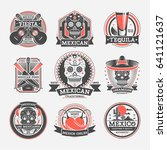 mexican vintage isolated label... | Shutterstock .eps vector #641121637
