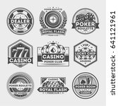 casino vintage isolated label... | Shutterstock .eps vector #641121961