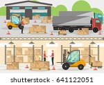 goods distribution business... | Shutterstock .eps vector #641122051