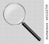 magnifying glass isolated... | Shutterstock .eps vector #641122759