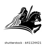 a knight on a horse. | Shutterstock .eps vector #641124421