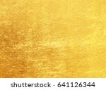 shiny yellow leaf gold foil... | Shutterstock . vector #641126344