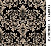 vector damask seamless pattern... | Shutterstock .eps vector #641128651