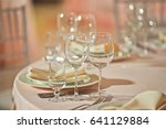 sparkling glasses stand by... | Shutterstock . vector #641129884