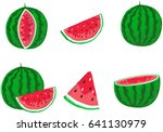 fresh and juicy whole... | Shutterstock .eps vector #641130979