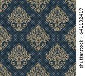 vector damask seamless pattern... | Shutterstock .eps vector #641132419
