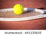 tennis is a racket sport that... | Shutterstock . vector #641135635
