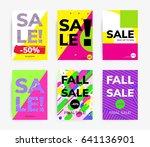 minimal geometric posters set... | Shutterstock .eps vector #641136901