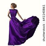 woman in purple dress looking... | Shutterstock . vector #641140861