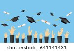 graduating students of pupil... | Shutterstock .eps vector #641141431