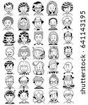 people portrait set. collection ... | Shutterstock .eps vector #641143195