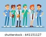 doctor set medical team in... | Shutterstock .eps vector #641151127