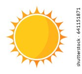 yellow sun icon vector... | Shutterstock .eps vector #641151871