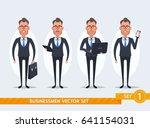 cute cartoon businessmen   set... | Shutterstock .eps vector #641154031