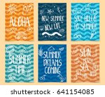 set of abstract cards for... | Shutterstock .eps vector #641154085