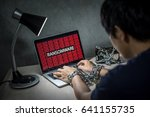 hard disk file locked with... | Shutterstock . vector #641155735