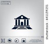 bank vector icon | Shutterstock .eps vector #641159251