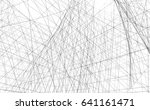 architectural drawing.... | Shutterstock . vector #641161471