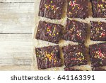 chocolate brownie  selective... | Shutterstock . vector #641163391
