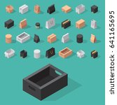 different box vector isometric... | Shutterstock .eps vector #641165695