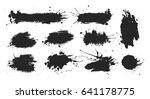 black ink spots set. | Shutterstock . vector #641178775